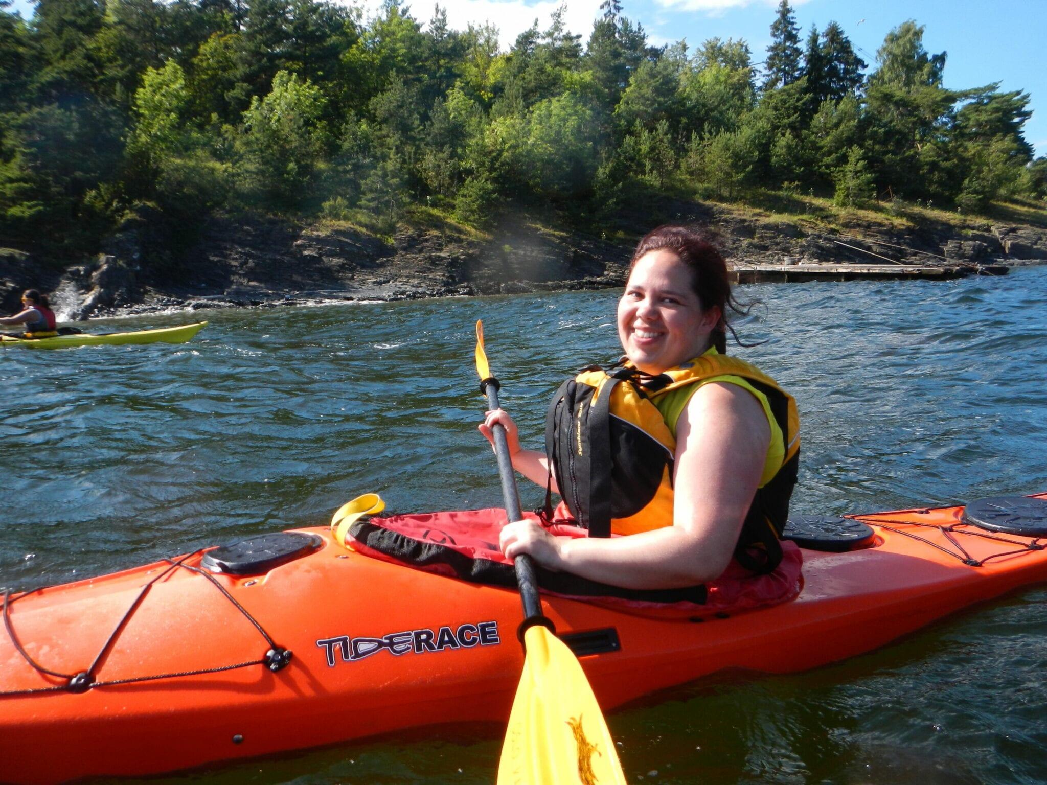 Happy kayaking