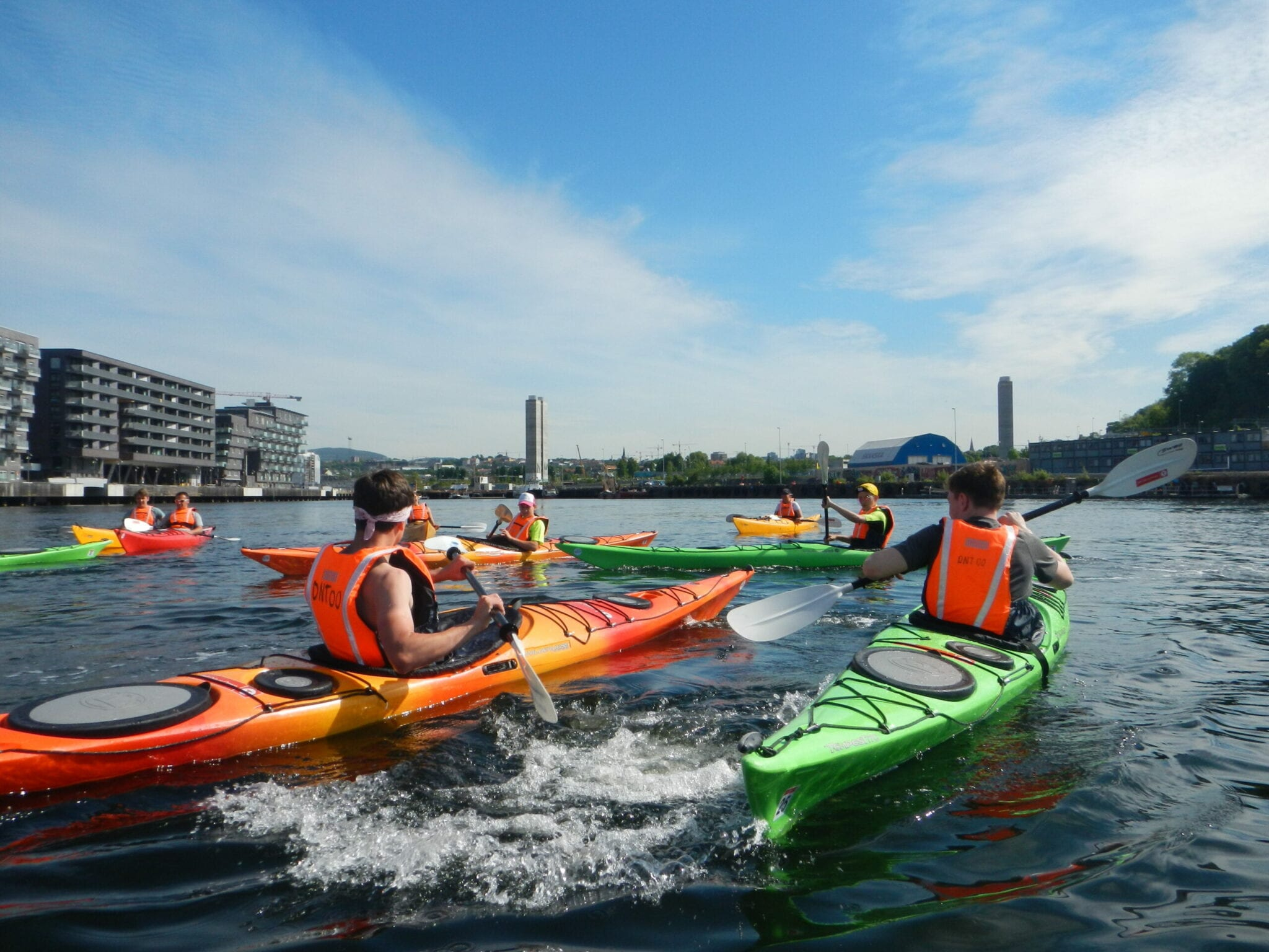 Fun on the water with kayaks